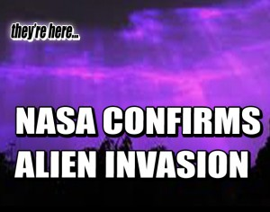 Alien Invasion confirmed by NASA