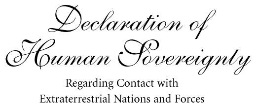 Declaration of Human Sov
